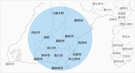 対応エリア 地図
